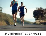 fitness exercising couple... | Shutterstock . vector #173779151