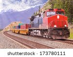 freight train in canadian... | Shutterstock . vector #173780111