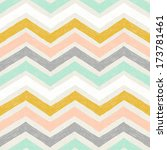 seamless hand drawn chevron... | Shutterstock . vector #173781461