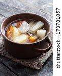 boiled vegetables  in ceramic... | Shutterstock . vector #173781857
