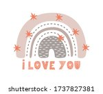 cute collection magic rainbow...   Shutterstock .eps vector #1737827381