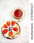 Mocha Strawberry Cake And Tea...