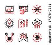 marketing digital icon set...   Shutterstock .eps vector #1737842381