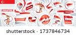 vector set of the national flag ... | Shutterstock .eps vector #1737846734