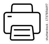 print   icon line vector   user ...