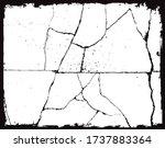 grunge cracked texture.grunge... | Shutterstock .eps vector #1737883364