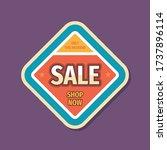 sale promotion banner design.... | Shutterstock .eps vector #1737896114