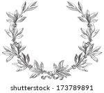 laurel wreath. decorative... | Shutterstock . vector #173789891