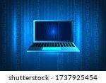 cyberattack  hack computer.... | Shutterstock .eps vector #1737925454