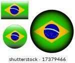 flag icon vector   brazil | Shutterstock . vector #17379466