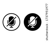 microphone mute icon isolated...   Shutterstock .eps vector #1737951977