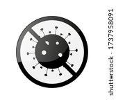 stop or no virus vector... | Shutterstock .eps vector #1737958091