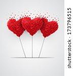 valentines day heart balloons...   Shutterstock .eps vector #173796515