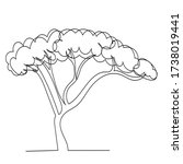 tree continuous line drawing ... | Shutterstock .eps vector #1738019441