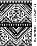 polynesian seamless geometric...   Shutterstock .eps vector #1738029431