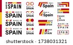 set of made in spain logotype... | Shutterstock .eps vector #1738031321