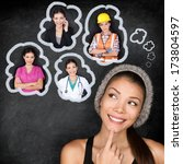 career choice options   student ... | Shutterstock . vector #173804597