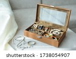 Leather Jewelry Box With...
