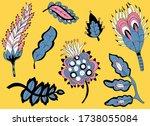 traditional indian motif.... | Shutterstock .eps vector #1738055084