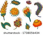 indian plants illustration.... | Shutterstock .eps vector #1738056434