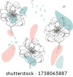 seamless pattern with flowers.... | Shutterstock .eps vector #1738065887