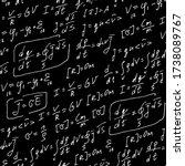 physics formulas handwritten... | Shutterstock .eps vector #1738089767