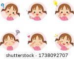 Illustrations Of Cute Girl Wit...