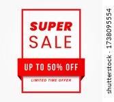 vector illustration of a sale... | Shutterstock .eps vector #1738095554