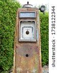 Vintage Rusty Old Petrol Pump...