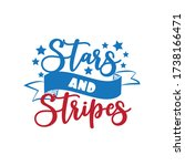 stars and stripes   happy... | Shutterstock .eps vector #1738166471