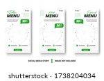 food menu banner social media... | Shutterstock .eps vector #1738204034