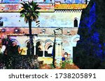 watercolorstyle picture that... | Shutterstock . vector #1738205891