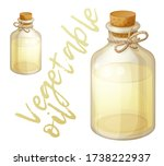 vegetable oil in the glass... | Shutterstock .eps vector #1738222937