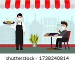new normal life in social... | Shutterstock .eps vector #1738240814
