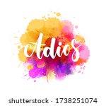 adios   goodbye in spanish   ...   Shutterstock .eps vector #1738251074