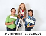the home improvement squad  ... | Shutterstock . vector #173828201