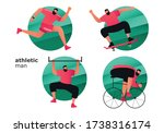 a set of athletes from... | Shutterstock .eps vector #1738316174