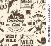 cowboy club seamless pattern ... | Shutterstock .eps vector #1738318307