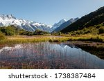 Mt.cook Reflected In Red Tarns...