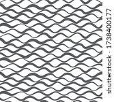 wavy lines vector seamless... | Shutterstock .eps vector #1738400177