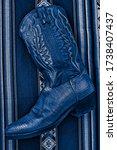 Lizard Cowboy Boot On Top Of A...