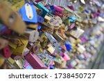 Hundreds Of Colorful Padlocks...