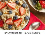 healthy homemade oatmeal with... | Shutterstock . vector #173846591