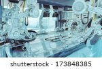 futuristic lab as part of huge... | Shutterstock . vector #173848385