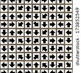 geometric ornament of arrows... | Shutterstock . vector #173852549