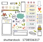 diary elements. hand drawn... | Shutterstock .eps vector #1738536317