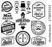collection of vintage barber... | Shutterstock .eps vector #173855315