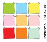 sticky notes vector clipart ... | Shutterstock .eps vector #1738563101