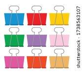 9 color clip art paper binder ... | Shutterstock .eps vector #1738563107