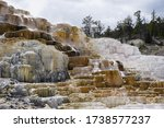 Surreal landscape: Mammoth Hot Springs in Yellowstone National Park - Wyoming, USA